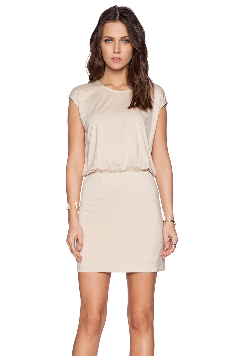Blaque Label Bloused Dress In Natural | Lyst