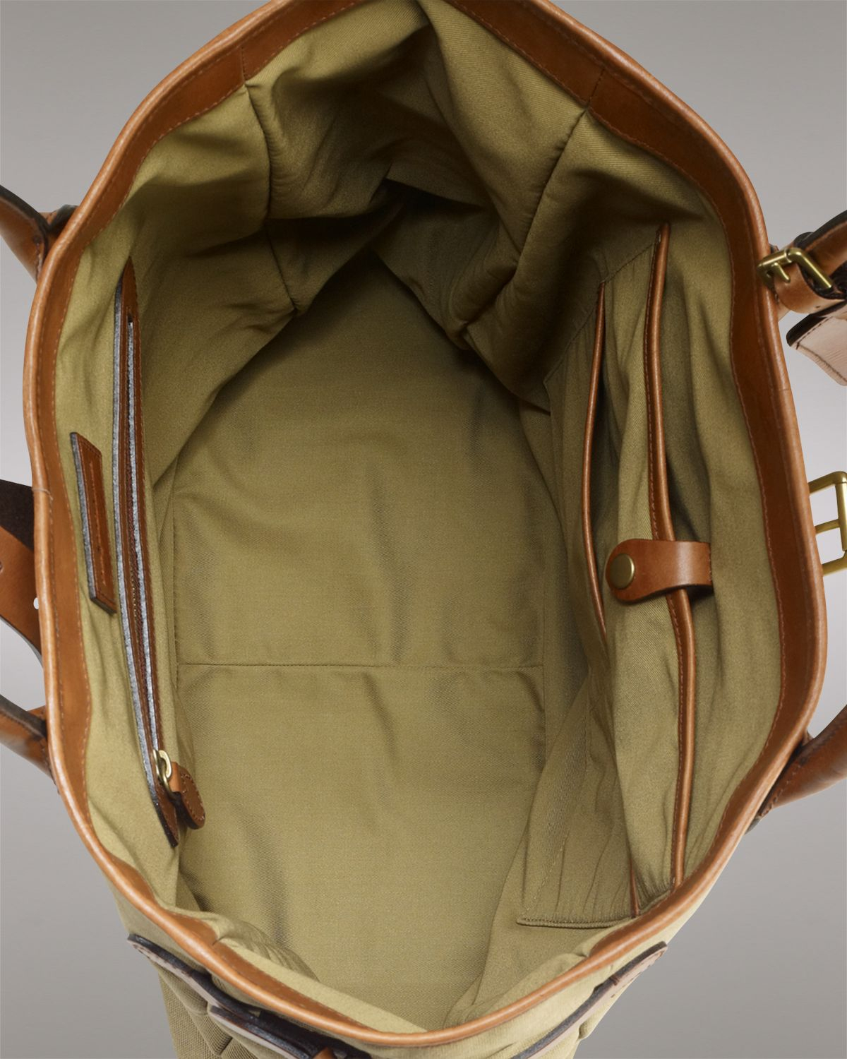 Ralph Lauren Polo Canvas Tote Bag In Olive Green For Men