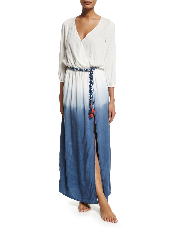 2235f2a0bc77 Lyst - Ondademar Rosental Dip-dye Maxi Coverup Dress in Blue