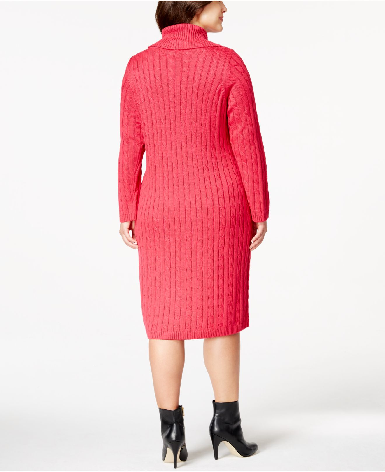 Lyst Calvin Klein Plus Size Cable Knit Side Zip Sweater