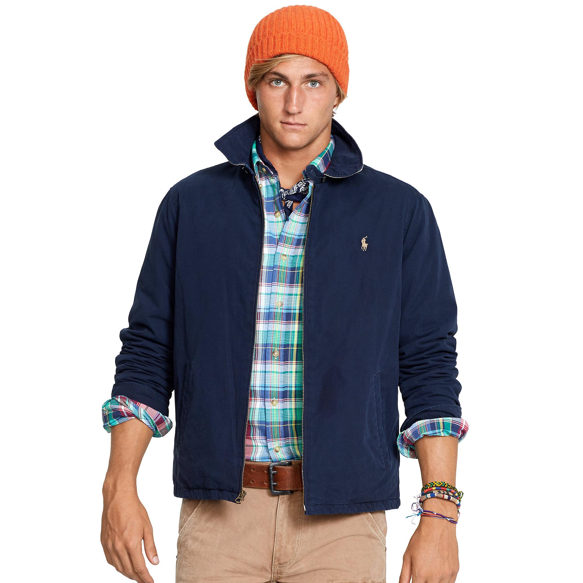Cotton For Ralph Landon Blue Polo Windbreaker Lauren Men zSpUMVGq