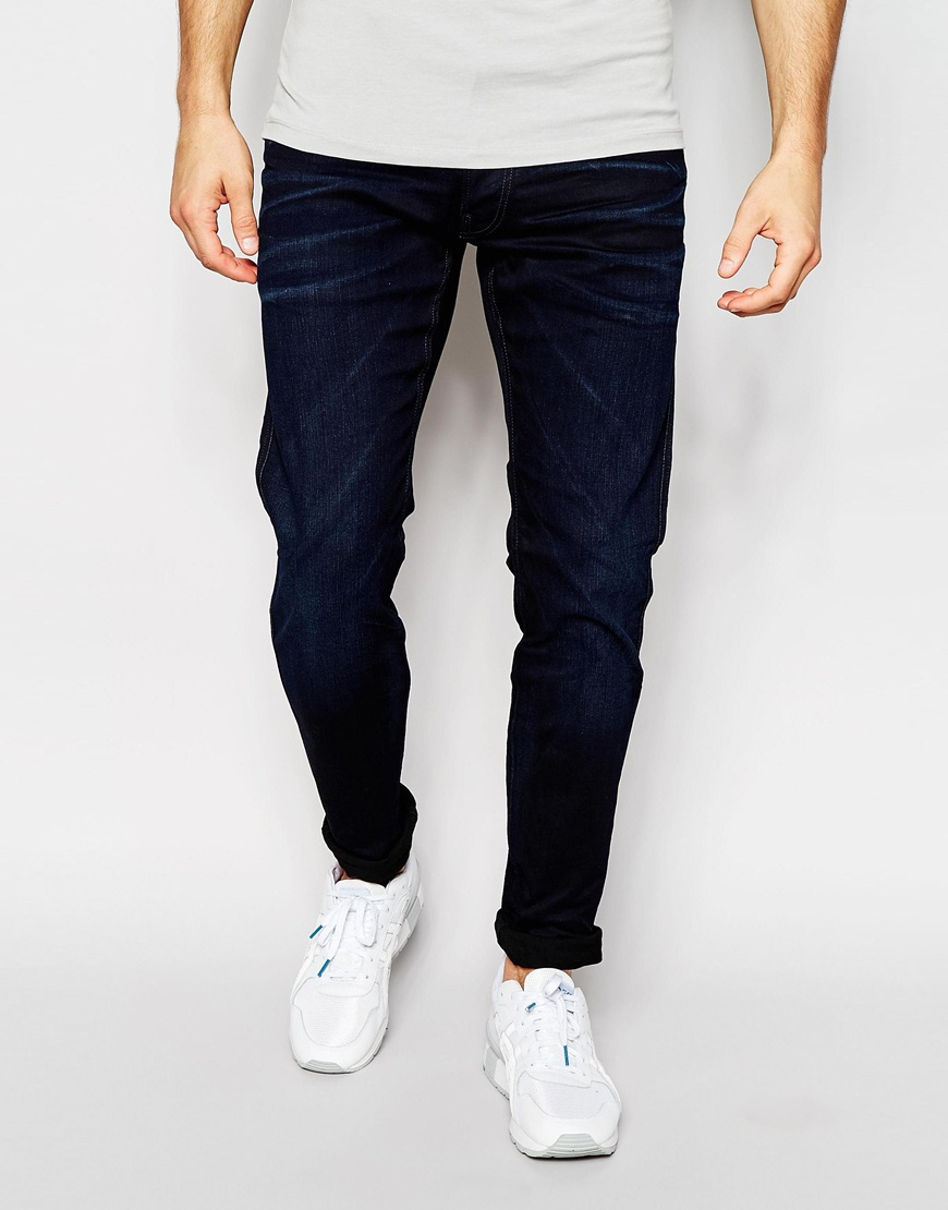 Lyst - Replay Jeans Anbass Slim Power Stretch Fit Dark ...