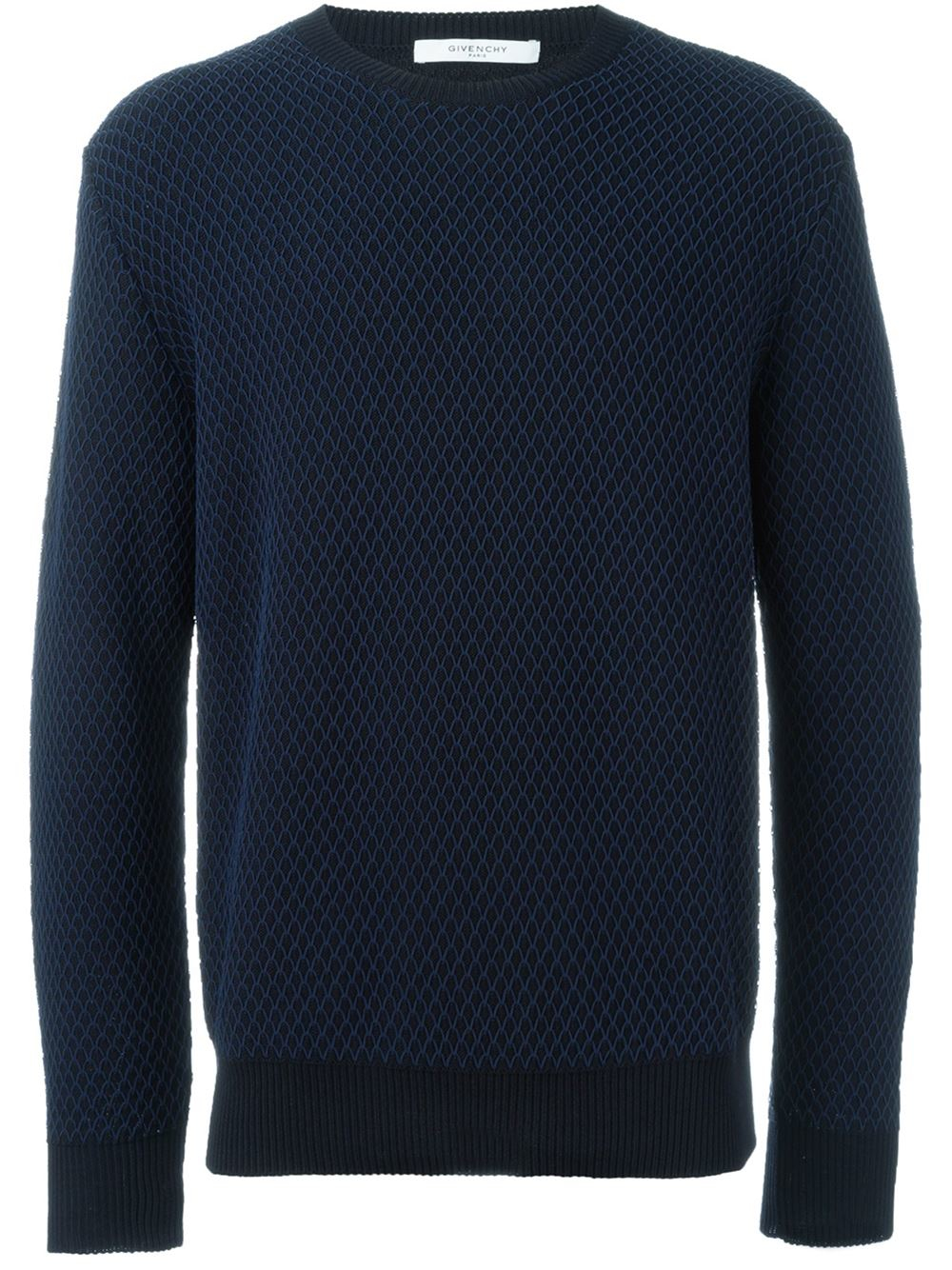 givenchy crew neck pullover in blue for men save 30 lyst. Black Bedroom Furniture Sets. Home Design Ideas