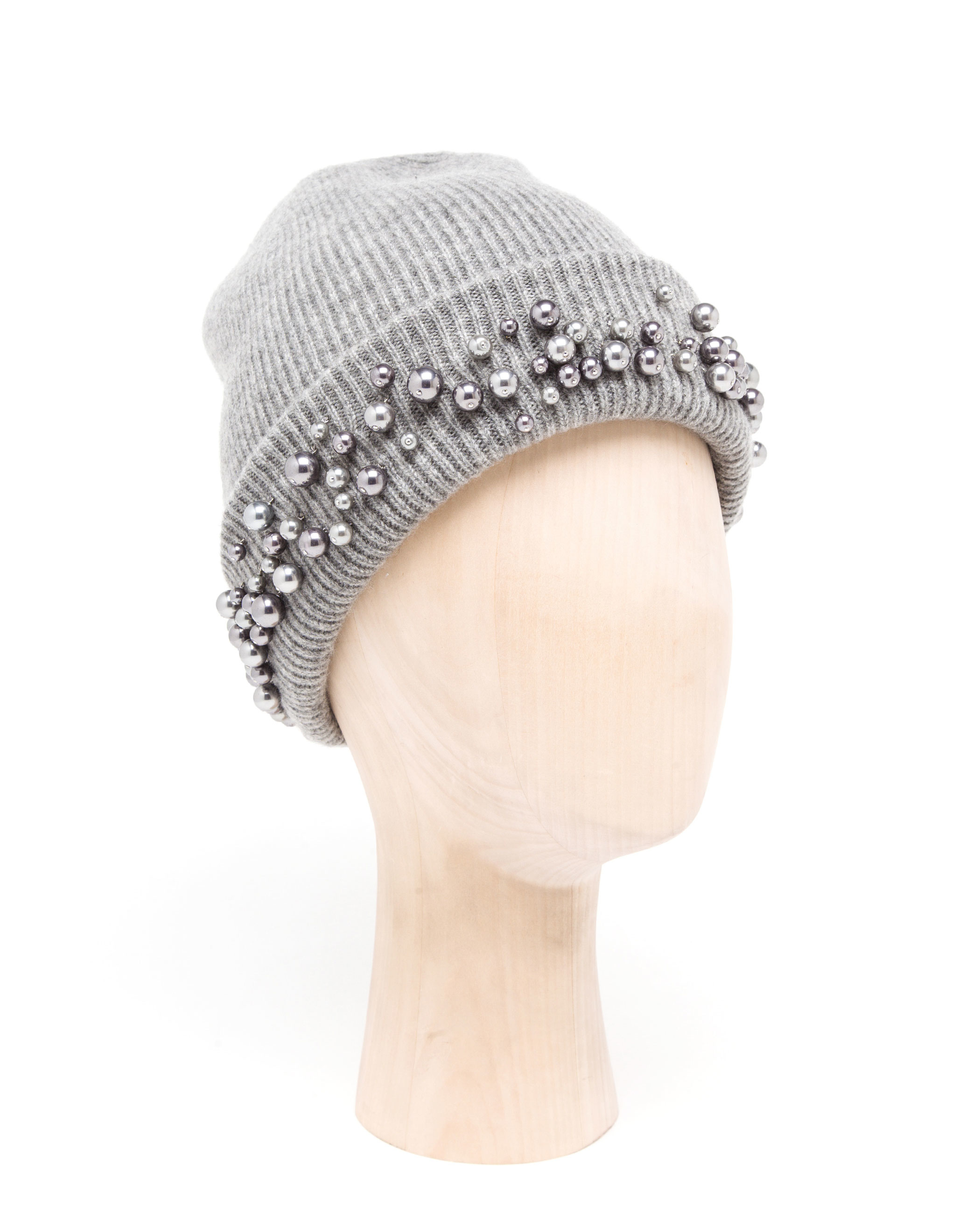 Maison Michel Pearl Embellished Beanie Hat in Black - Lyst 7e56b6e1be9