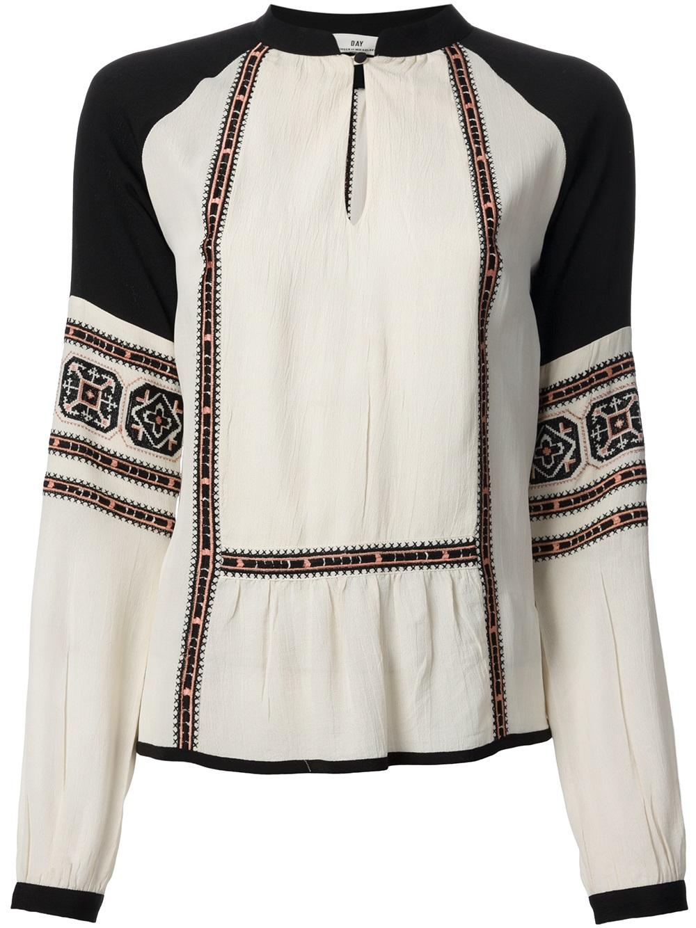 lyst day birger et mikkelsen folk tunic blouse in white. Black Bedroom Furniture Sets. Home Design Ideas