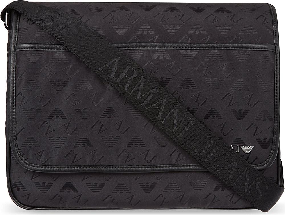 8005ec0c78f7 Armani Jeans Borsa Messenger Bag Black in Black for Men - Lyst