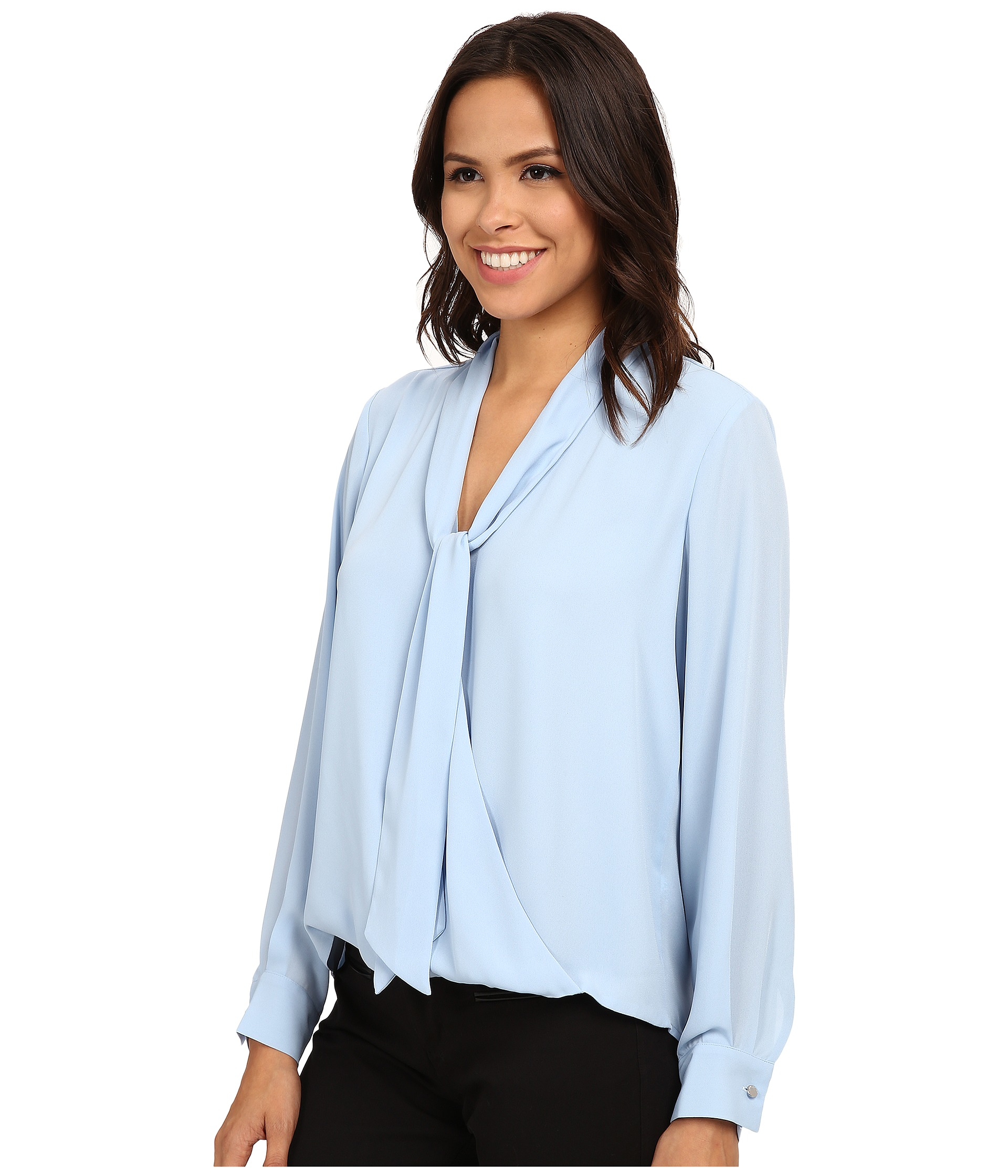 Womens Light Blue Blouse Breeze Clothing