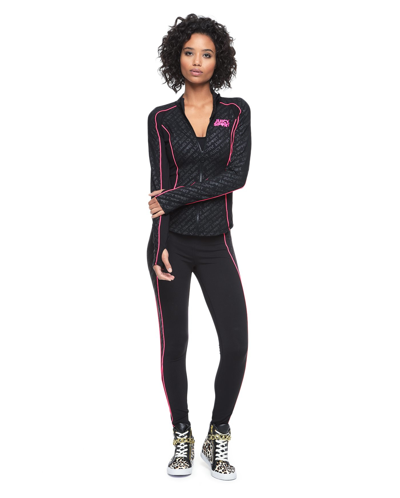 juicy couture fitted jacket in black pitch black juicy lyst. Black Bedroom Furniture Sets. Home Design Ideas
