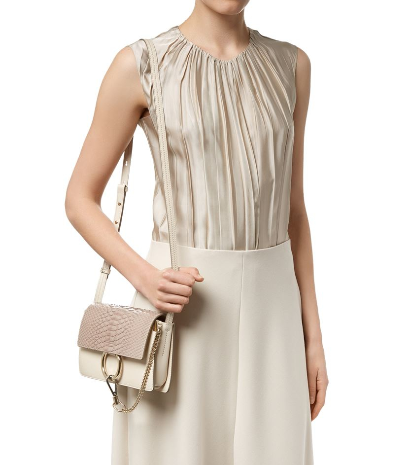 how to spot a fake chloe - Chlo�� Small Faye Python Shoulder Bag in Beige | Lyst