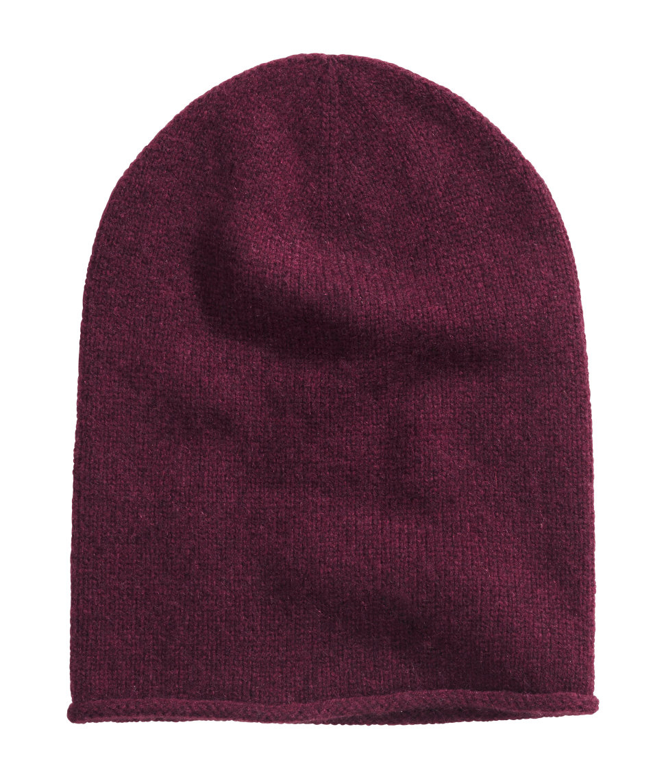 H Amp M Cashmere Hat In Purple Lyst