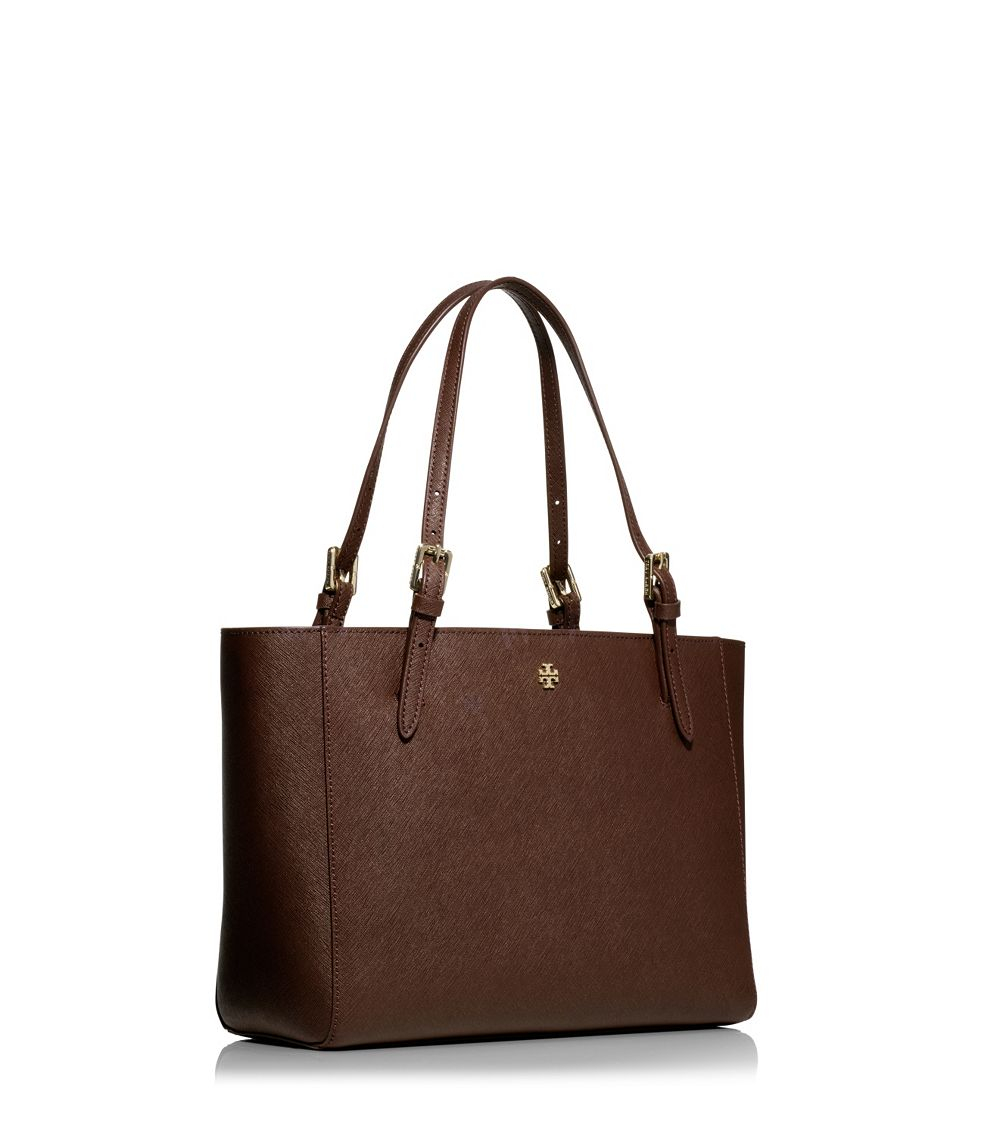 c34dc6c4bf5 Lyst - Tory Burch York Small Saffiano-Leather Tote in Brown