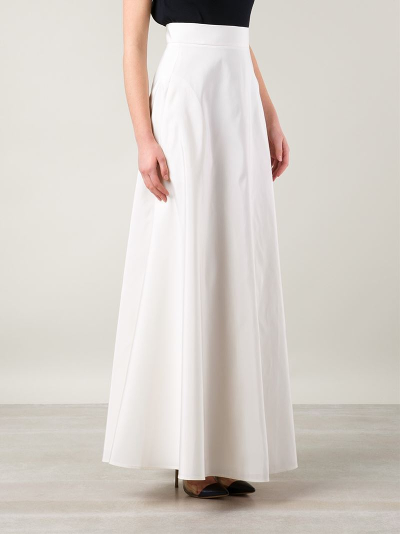 Rosie assoulin Long A-Line Skirt in White | Lyst