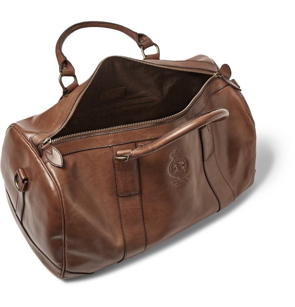 504f57aee2ec Lyst - Polo Ralph Lauren Leather Holdall Bag in Brown for Men