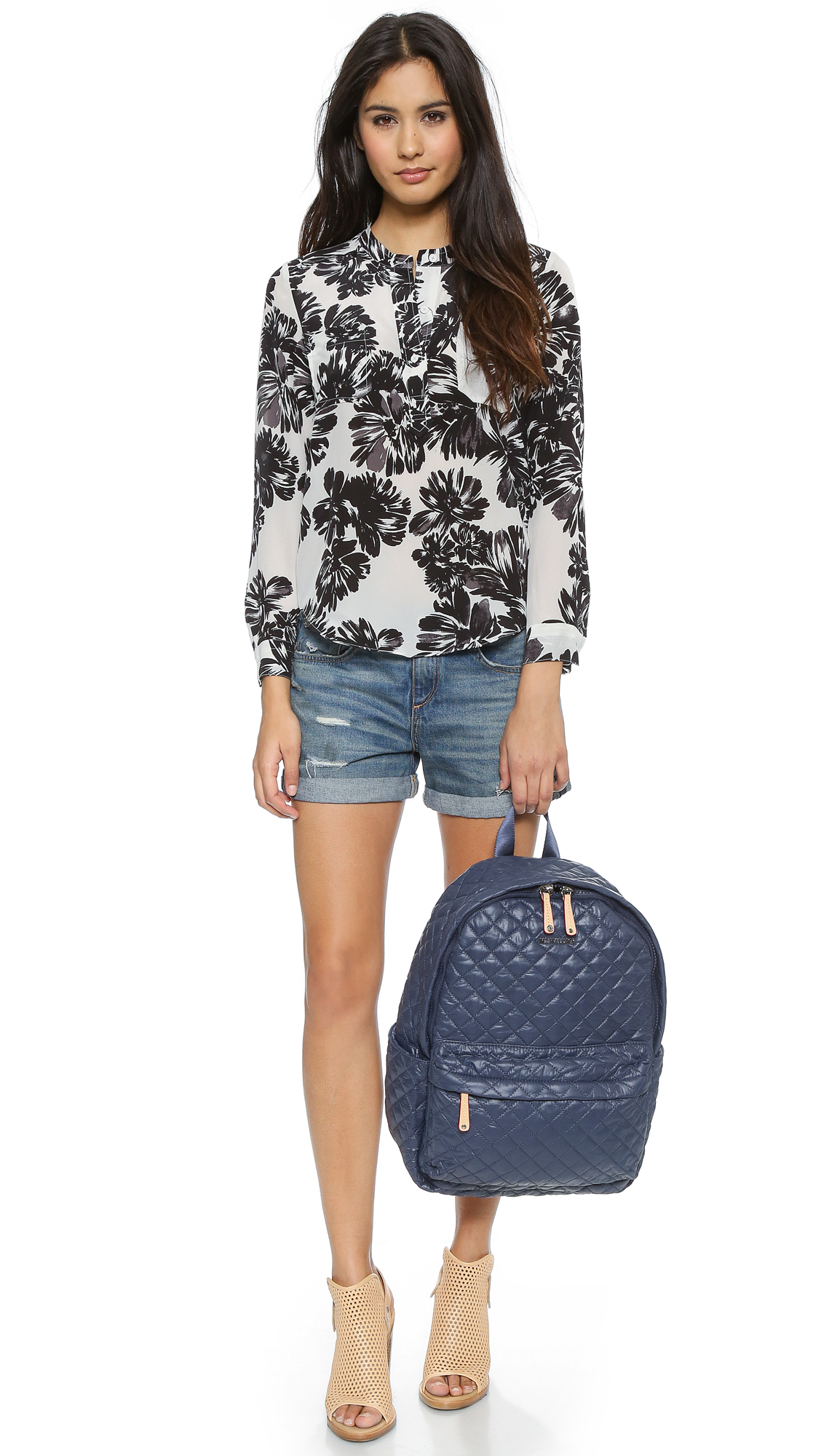 ffbe113e1c1a Lyst - MZ Wallace Metro Backpack - Navy in Blue