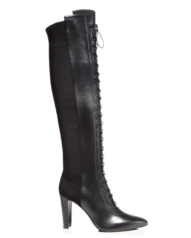 stuart weitzman boots highstrung lace up high heel in