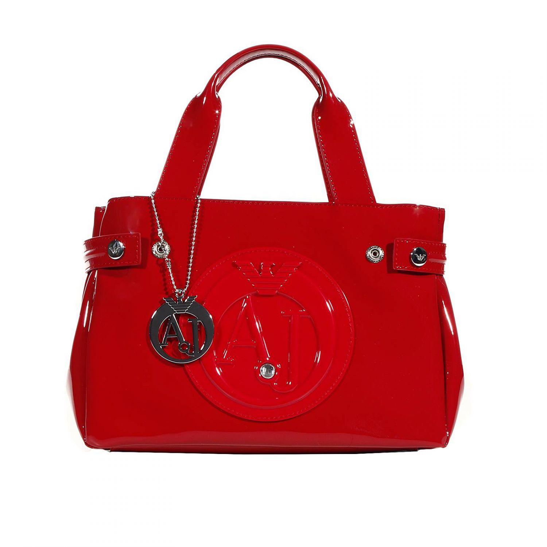 1b838083202b Giorgio armani Handbag Patent Leather Classic Mini Shopping Bag + Rh  29x20x10 Cm in Red