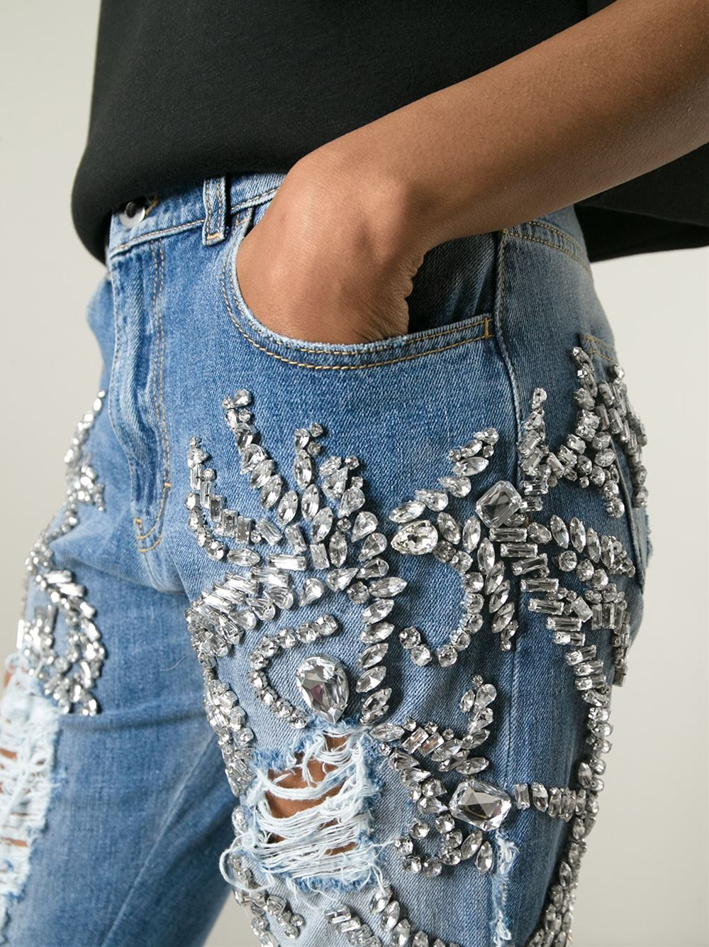 Womens Jeans With Bling
