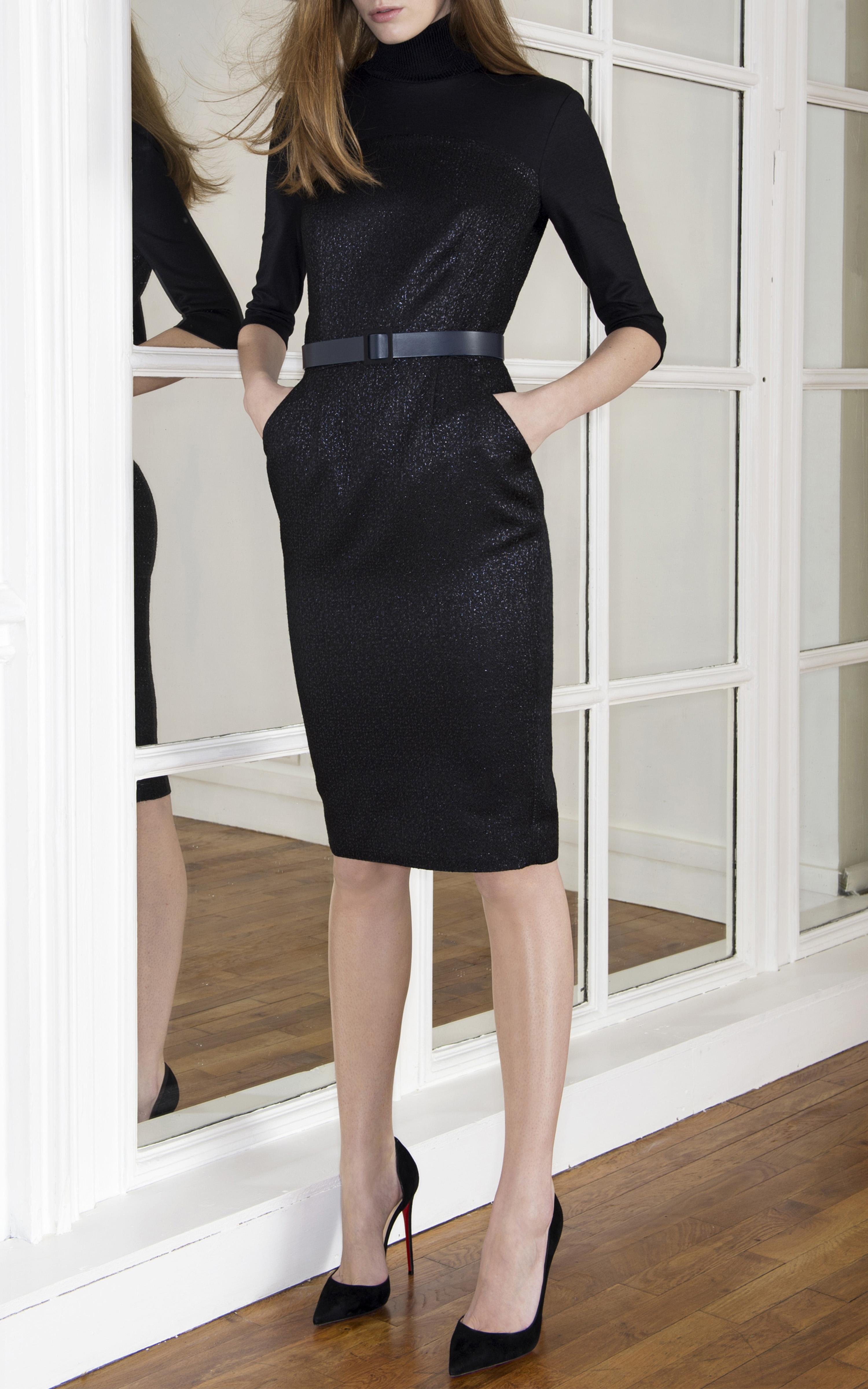 martin grant turtleneck secretary dress in black lyst