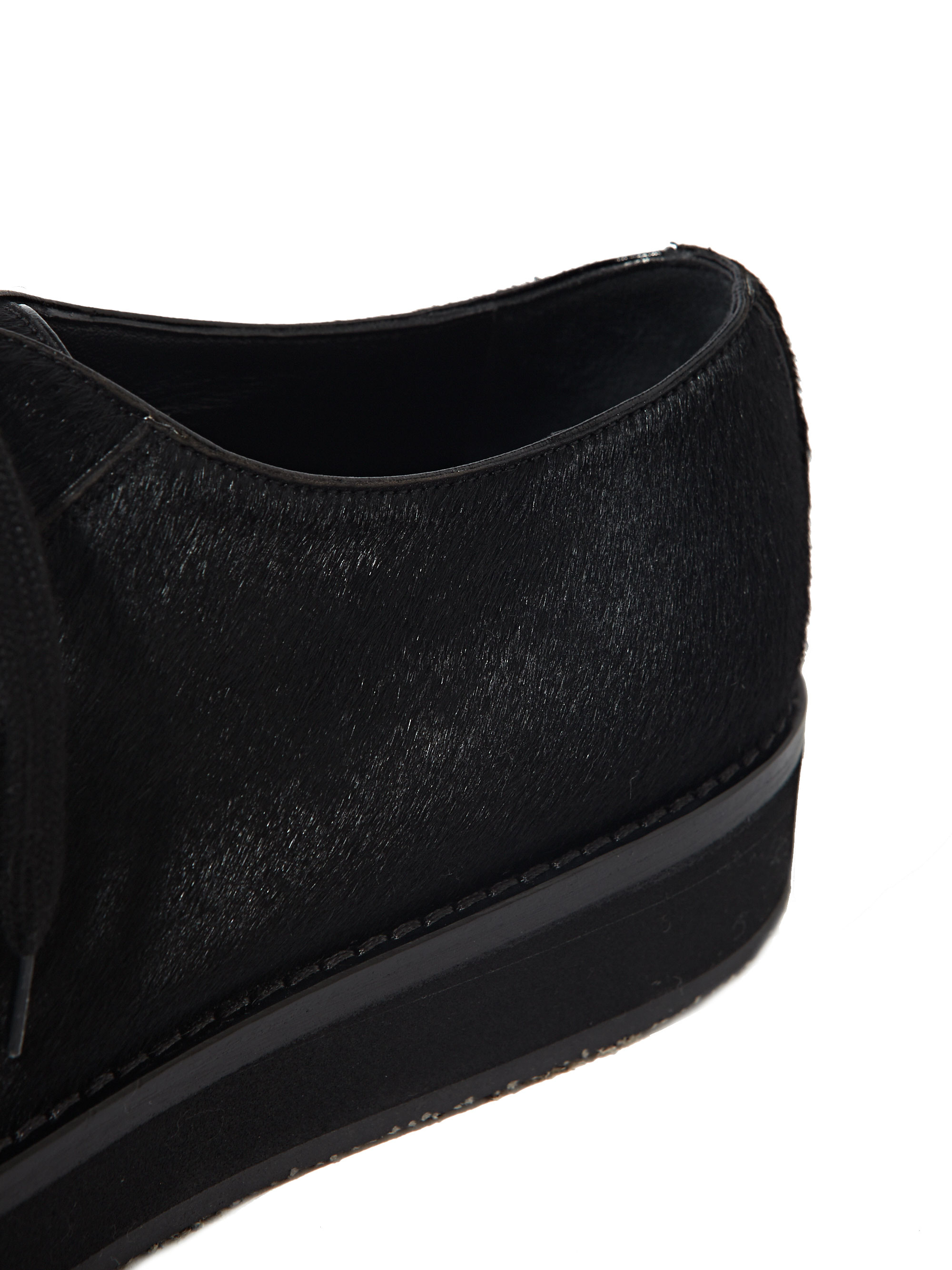 marni mens vitellino baby calf leather shoes in black for