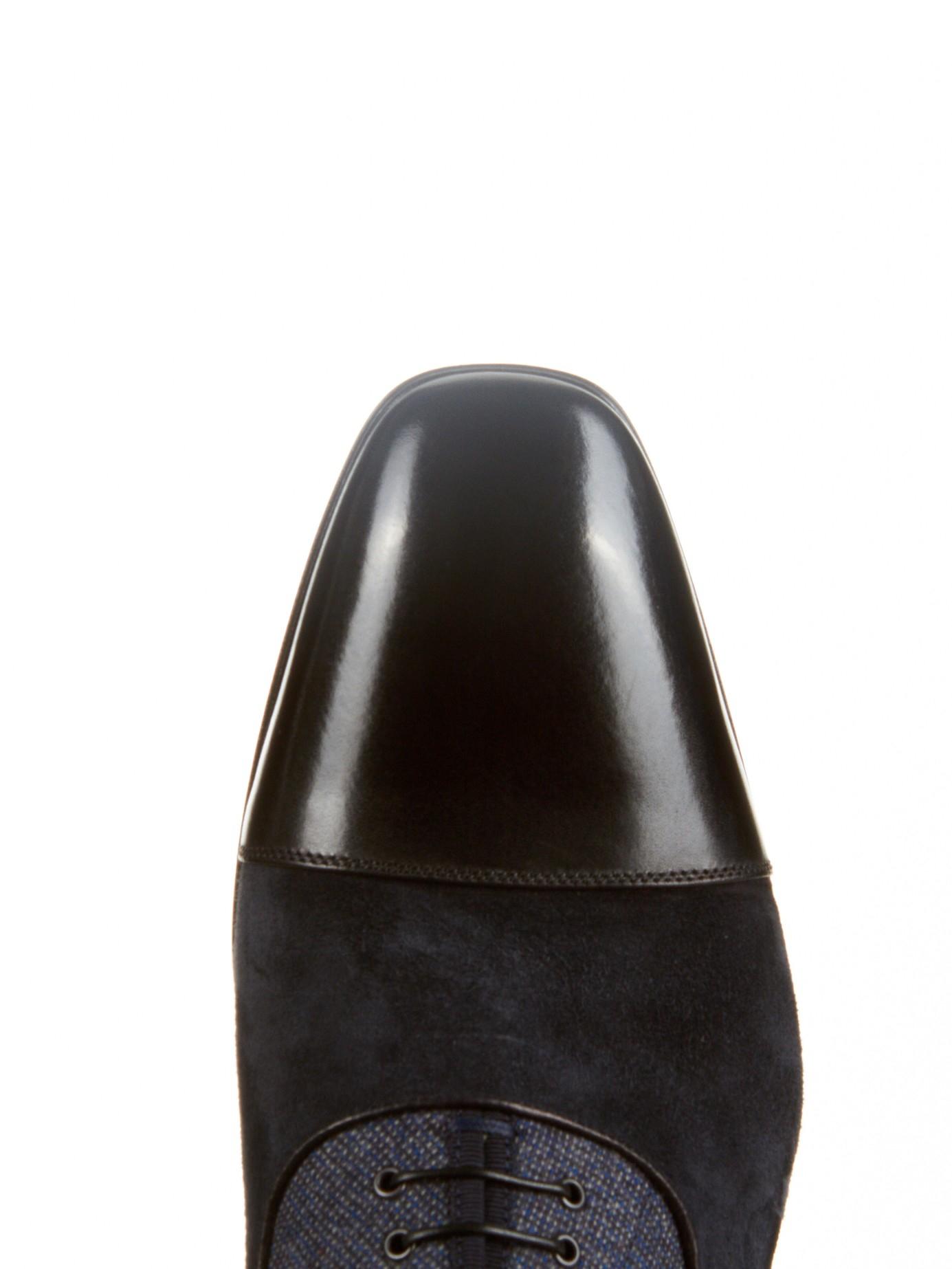the latest 6d157 e70c0 Christian Louboutin Blue Greggo Tri-Panel Oxford Shoes for men
