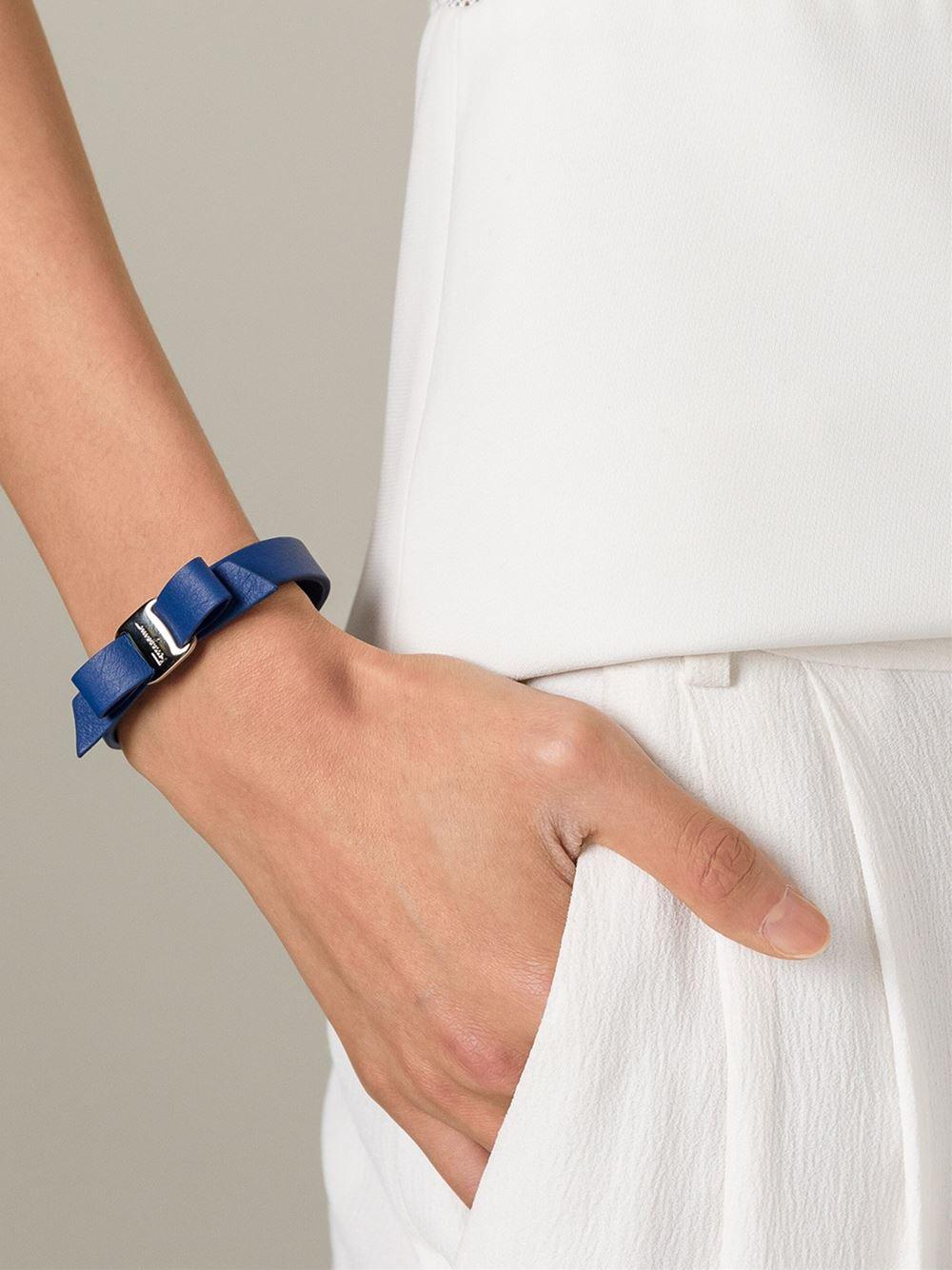 Salvatore Ferragamo Vara Bow Single Wrap Bracelet 1jijl0