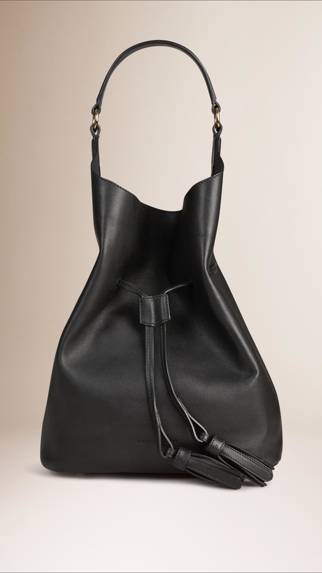 24f9a3477c8c Burberry The Large Ashby Leather Black Bag in Black - Lyst