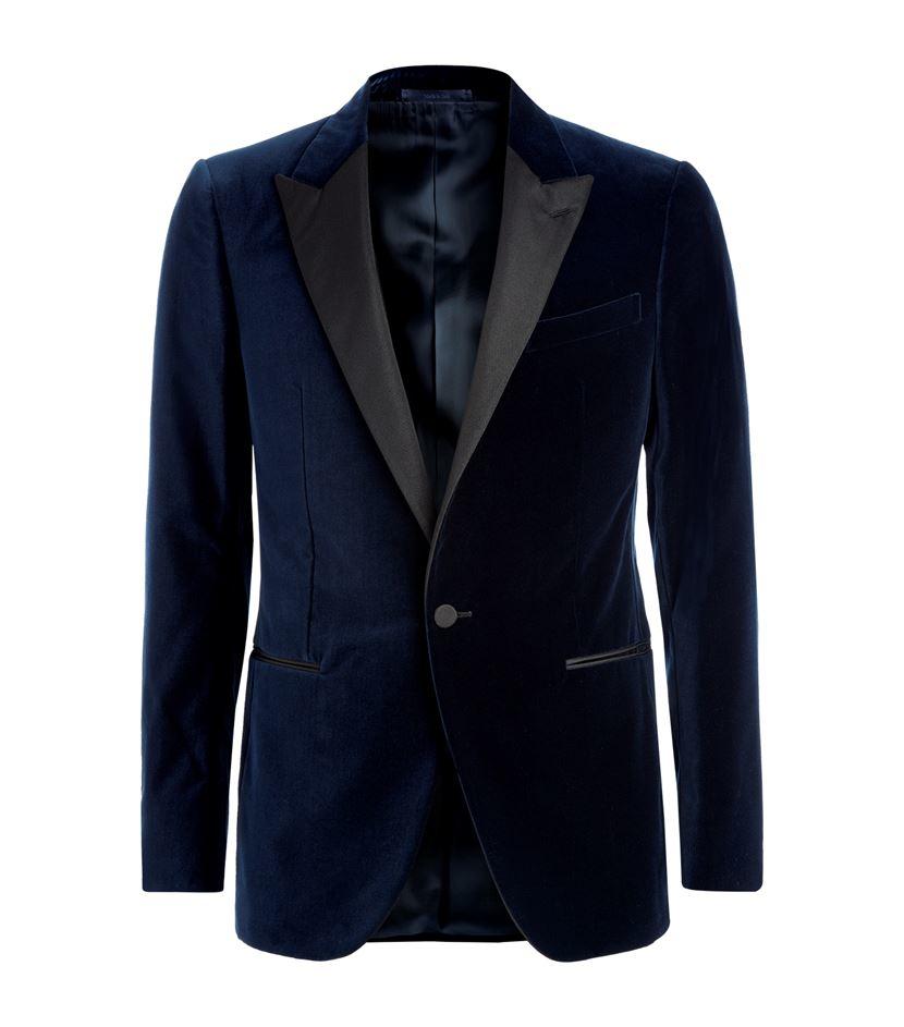 Lyst - Lanvin Velvet Tuxedo Jacket In Blue For Men