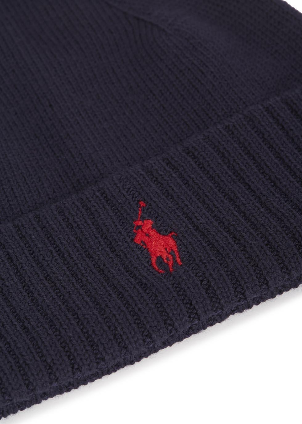 d69ba2dd675 Polo Ralph Lauren Navy Merino Wool Hat in Blue for Men - Lyst
