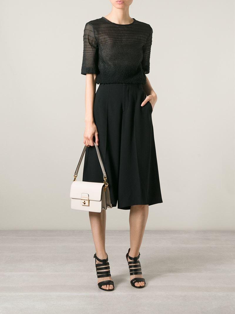 0b8de03f7c Lyst - Dolce   Gabbana Rosalia Leather Shoulder Bag in Natural