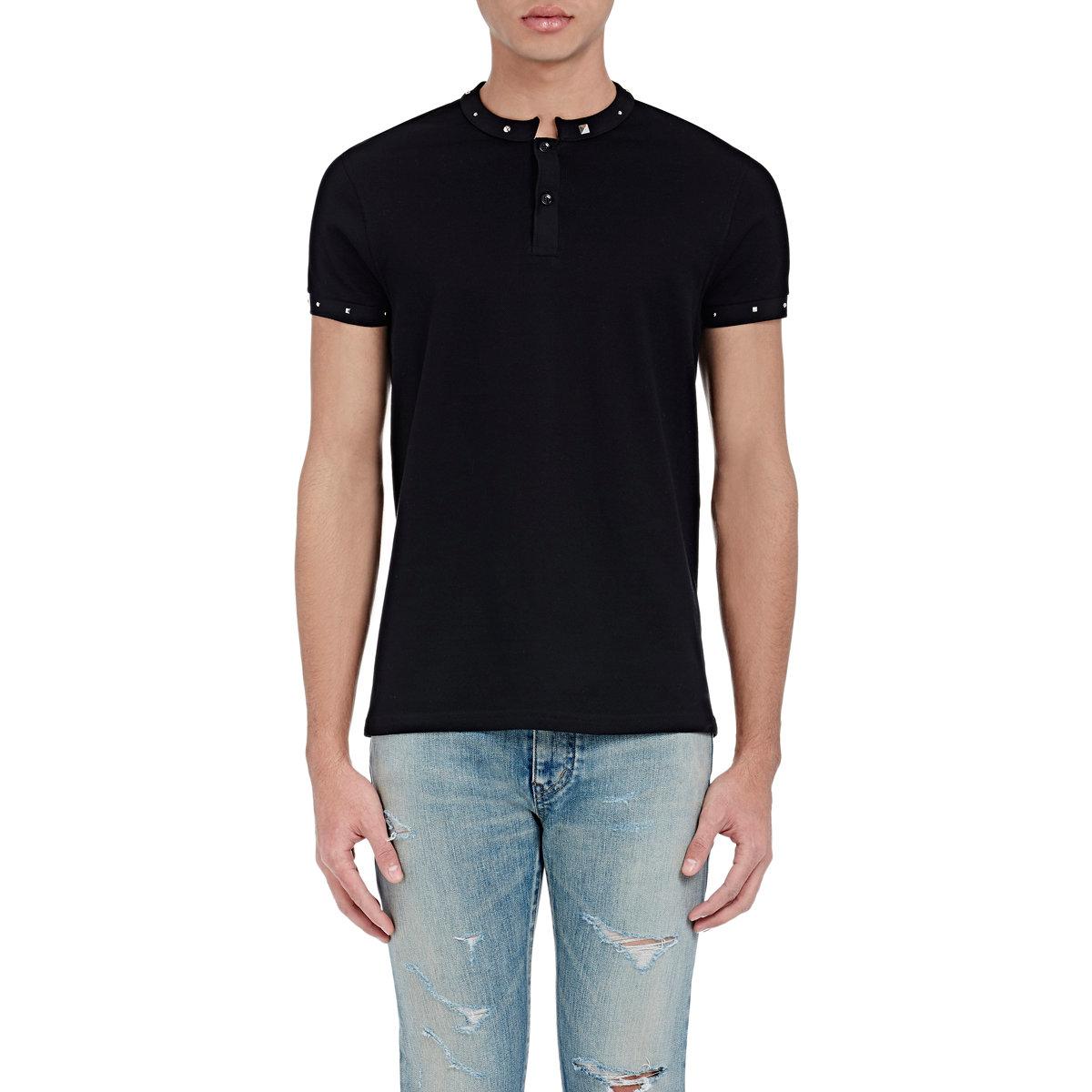 Saint laurent studded t shirt in black for men lyst for Saint laurent t shirt