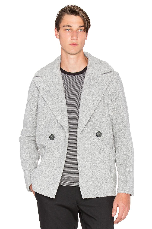Atm Wool Shearling Coat in Gray for Men | Lyst