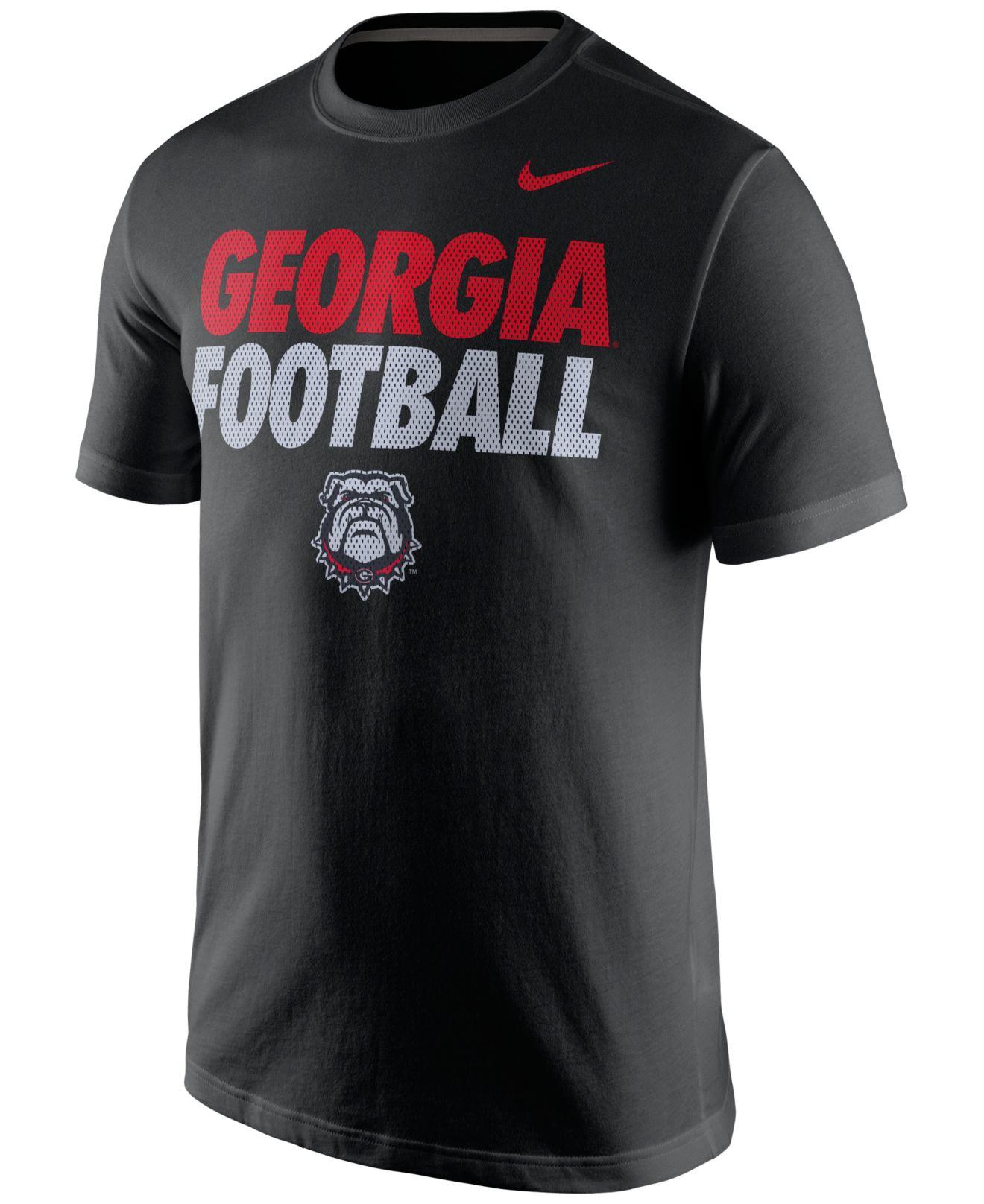 Nike Men 39 S Georgia Bulldogs Practice T Shirt In Black For