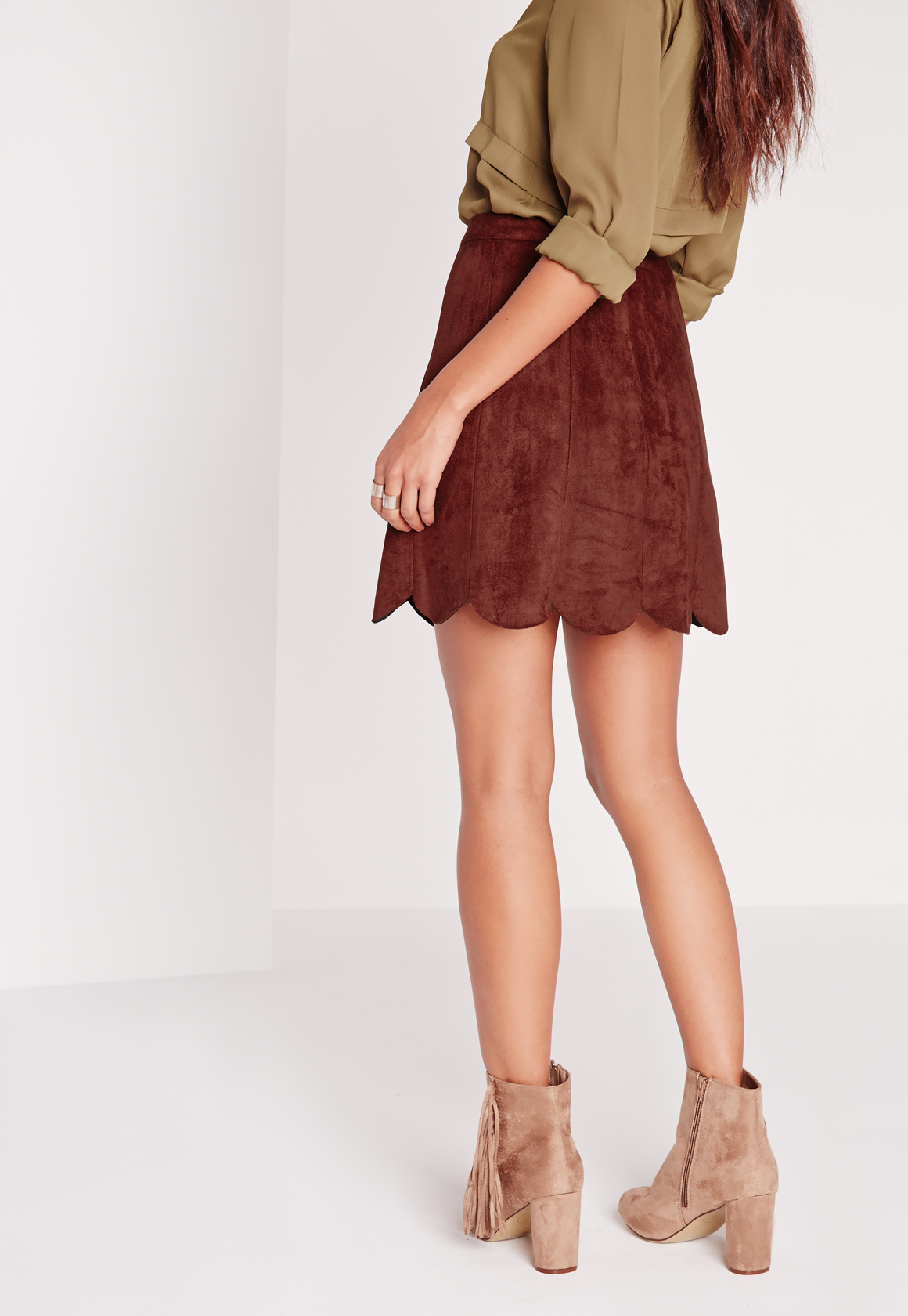how to add a scalloped hem to a dress
