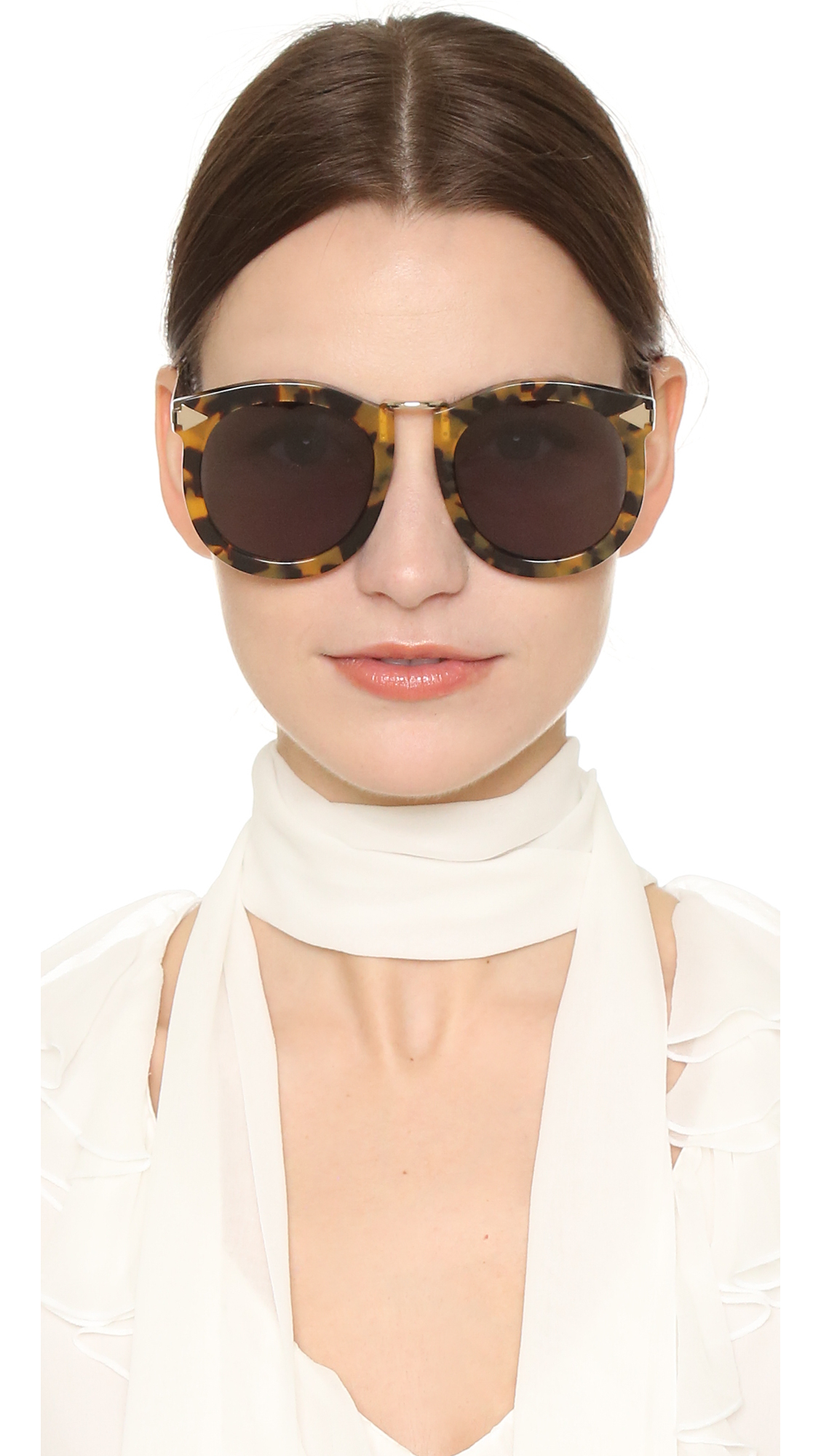 110ab3e7ed17 Lyst - Karen Walker Super Lunar Sunglasses in Brown