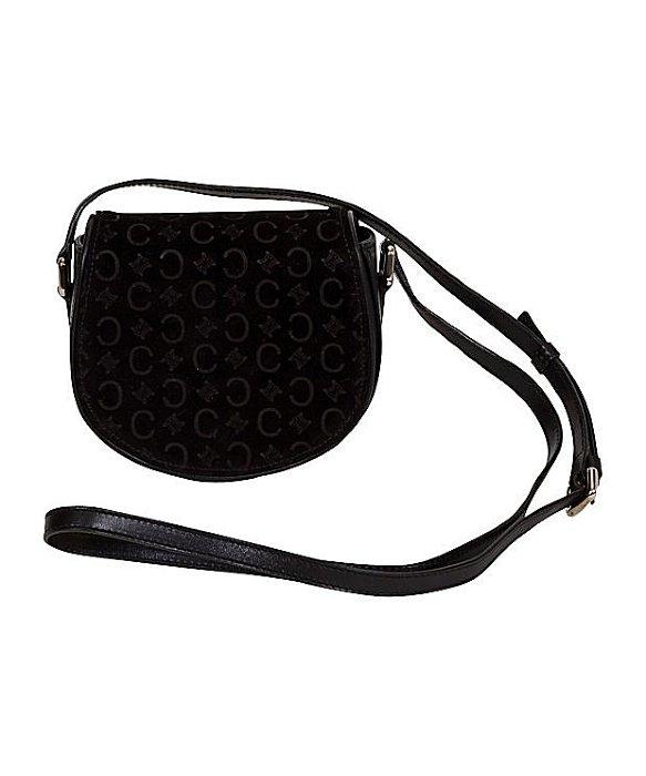 C��line Pre-owned: Logo Black Crossbody Bag in Black | Lyst