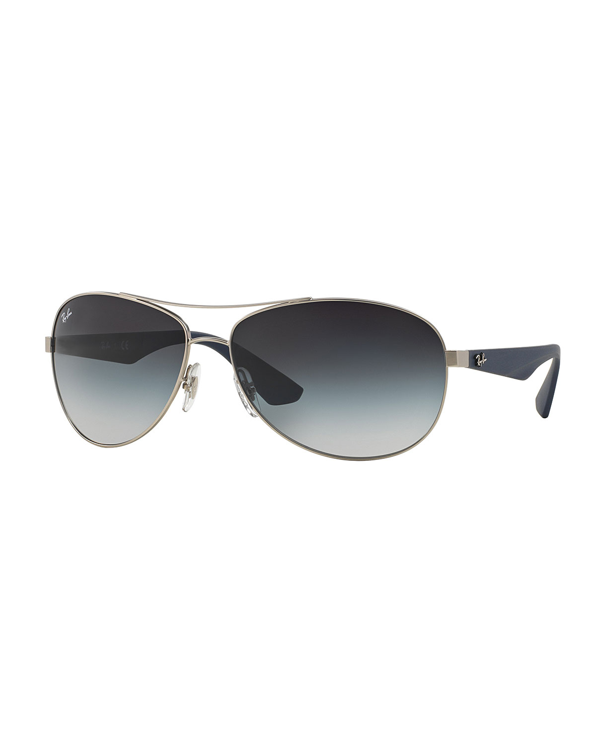 Ray-ban Wire-frame Metal Sunglasses in Gray Lyst