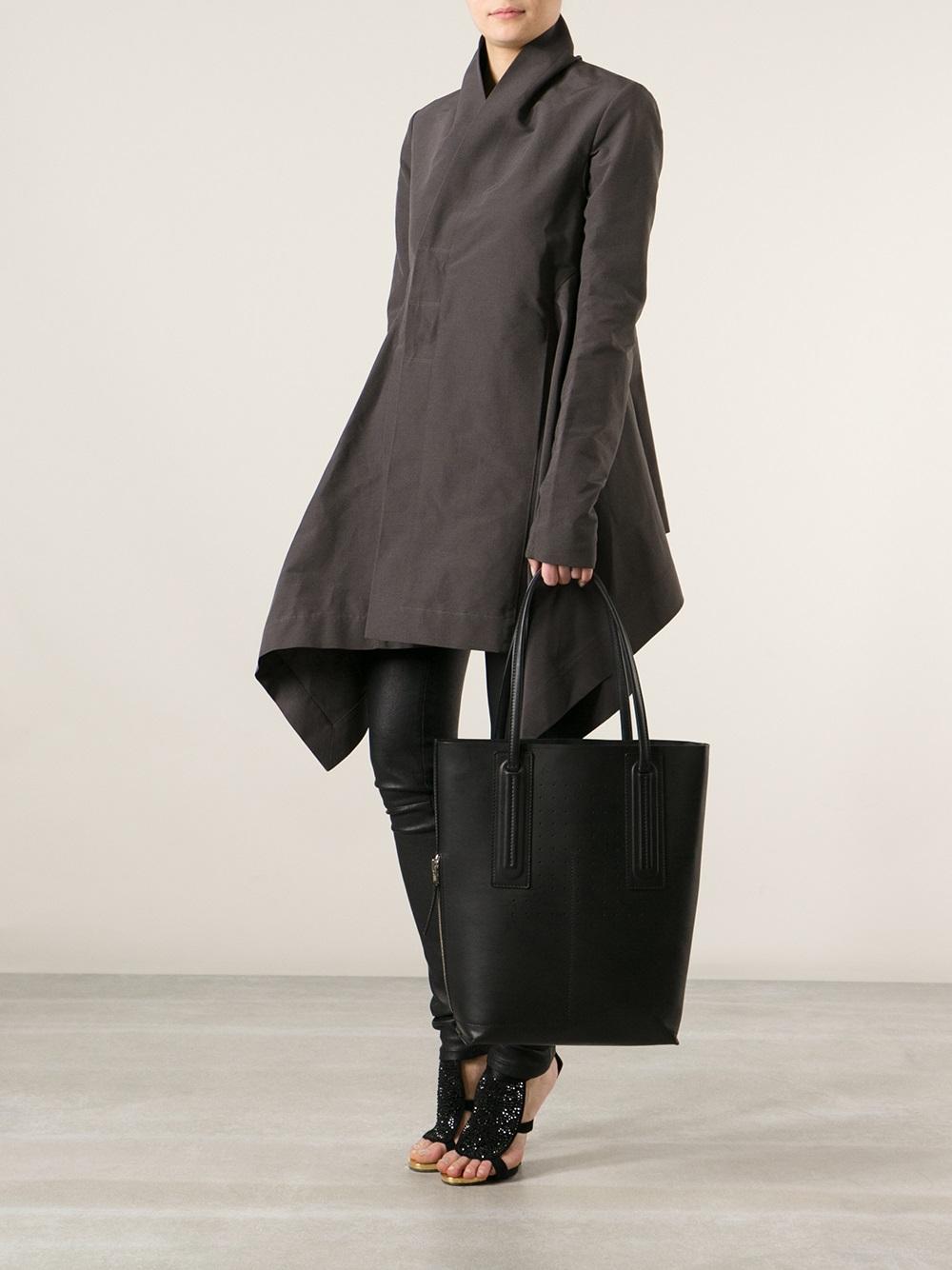 fe316004b10 Rick Owens Black Shopper Tote Bag