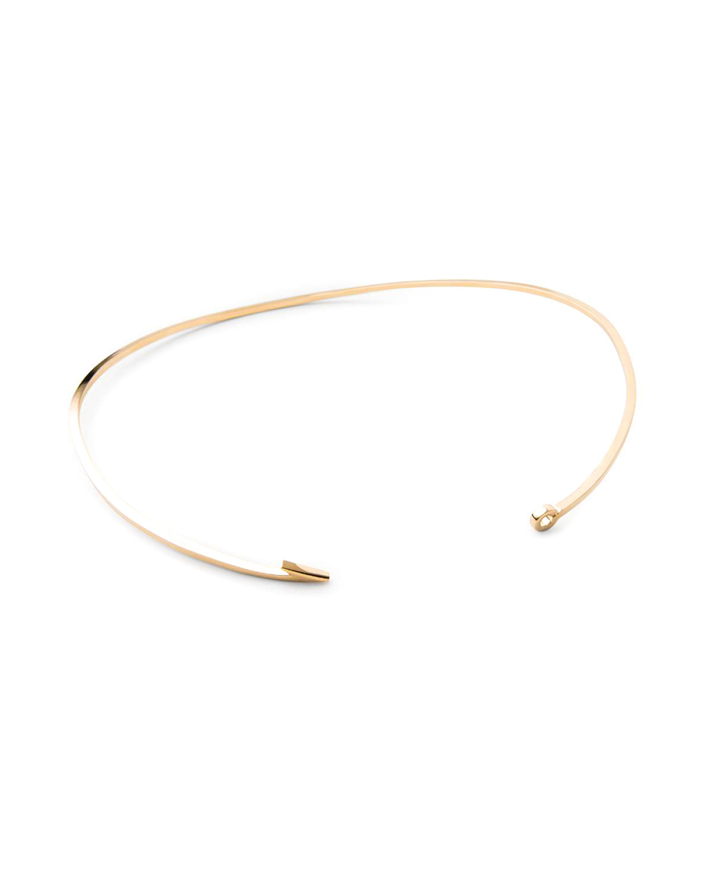 Miansai thin gold fish hook necklace in gold lyst for Gold fish hook necklace