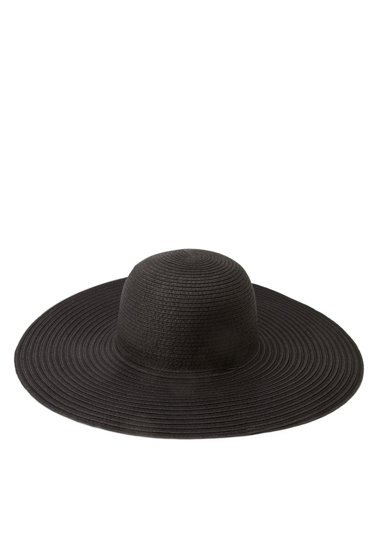 Lyst - Forever 21 Floppy Wide-brim Straw Hat in Black 98ac69d9099
