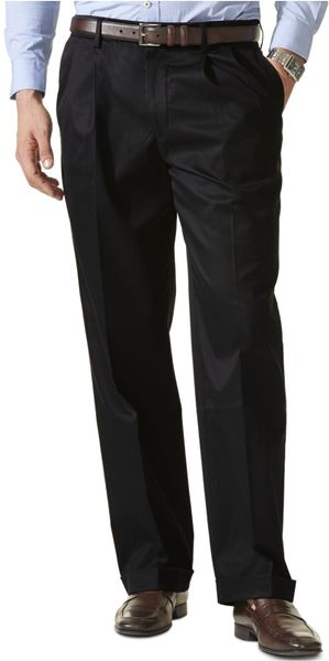 Dockers Big And Tall D3 Classic Fit Never Iron Pleated