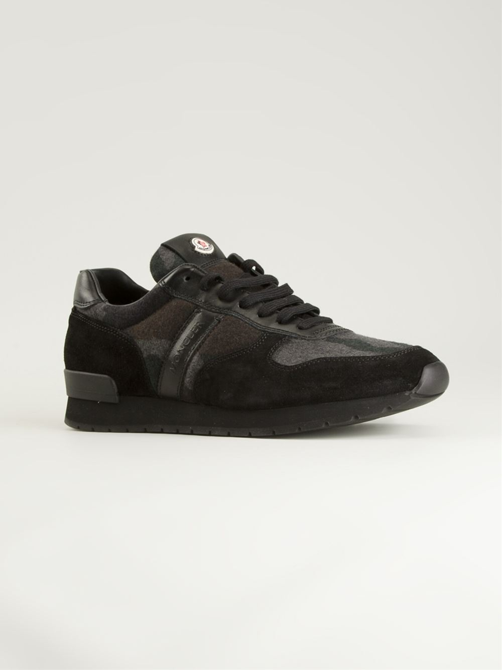 moncler black camo trainers