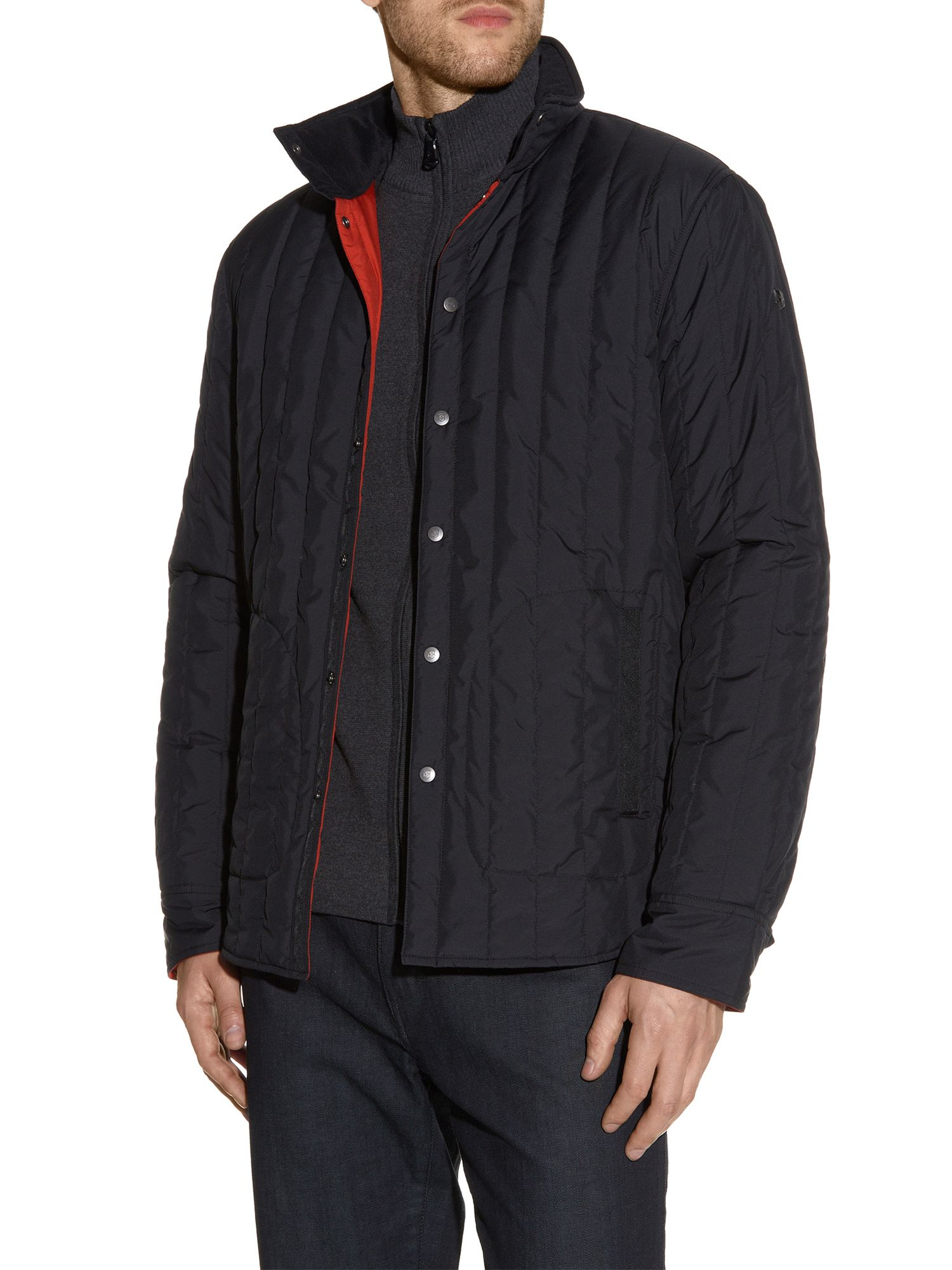 Lyst victorinox granger quilted jacket in black for men for Quilted jackets for men