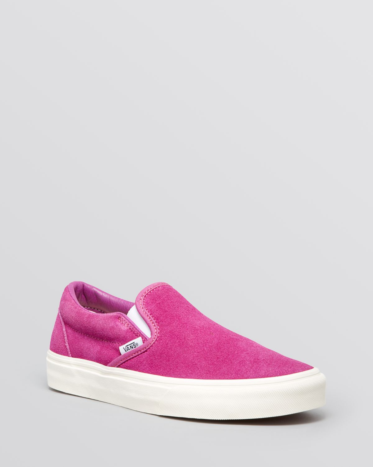 Lyst - Vans Flat Slip On Sneakers - Vintage Suede Classic in Pink a83f0fa7f