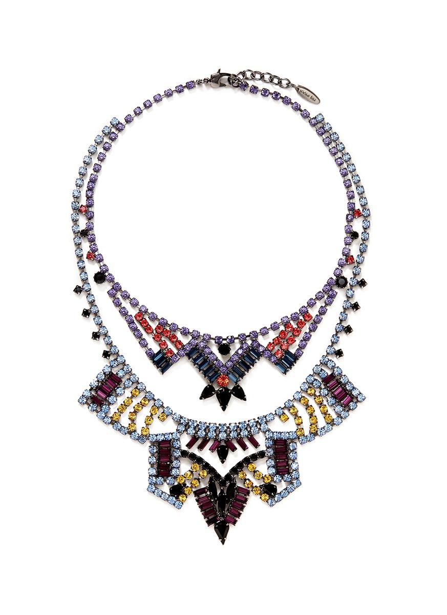 Joomi Lim Rebel Romance Crystal Double Strand Necklace