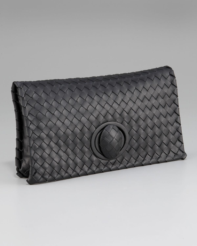 bottega veneta veneta zip clutch in black lyst. Black Bedroom Furniture Sets. Home Design Ideas