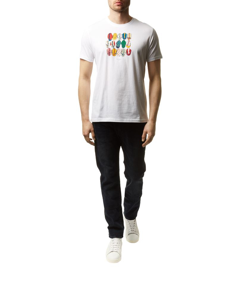 Paul Smith Hat Print T Shirt In White For Men Lyst