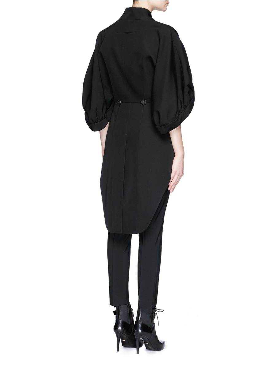 Lyst Givenchy Balloon Sleeve Tail Back Coat In Black