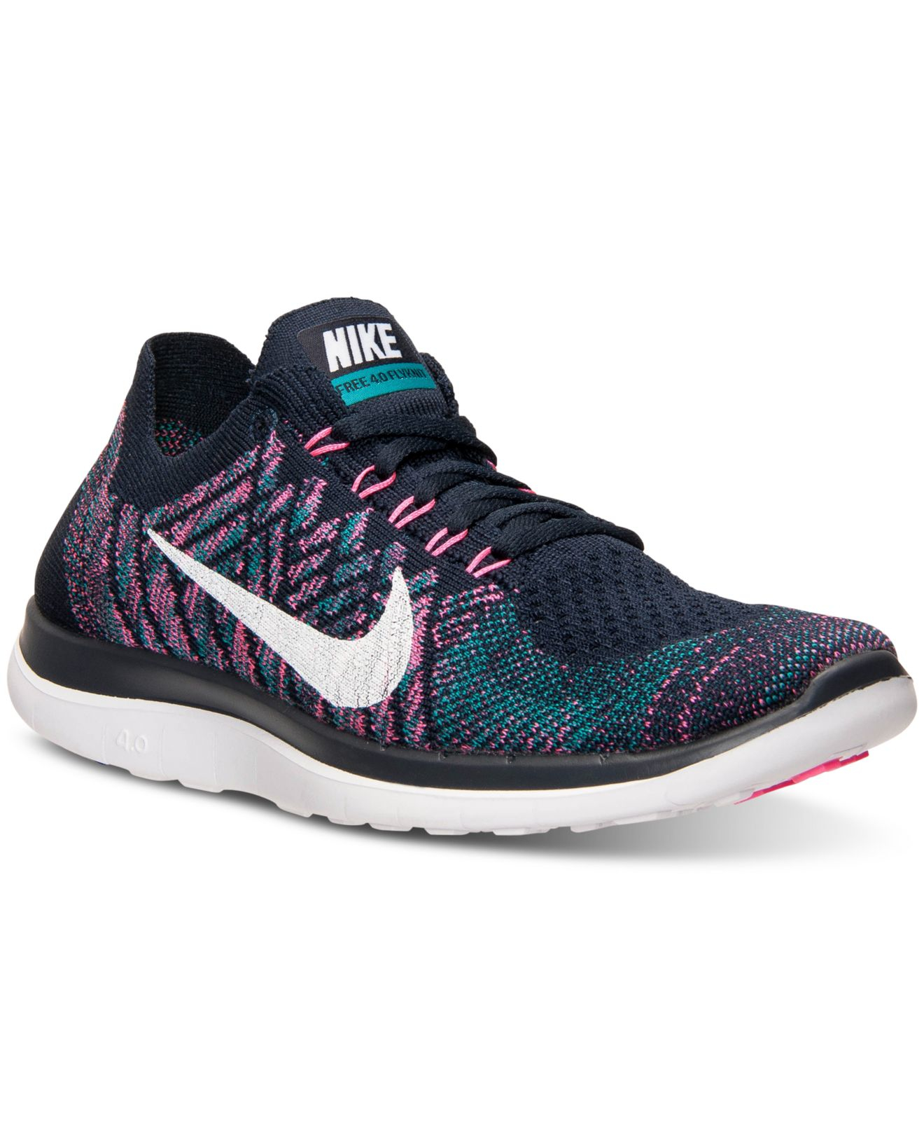 Womens Black And Purple Running Shoes