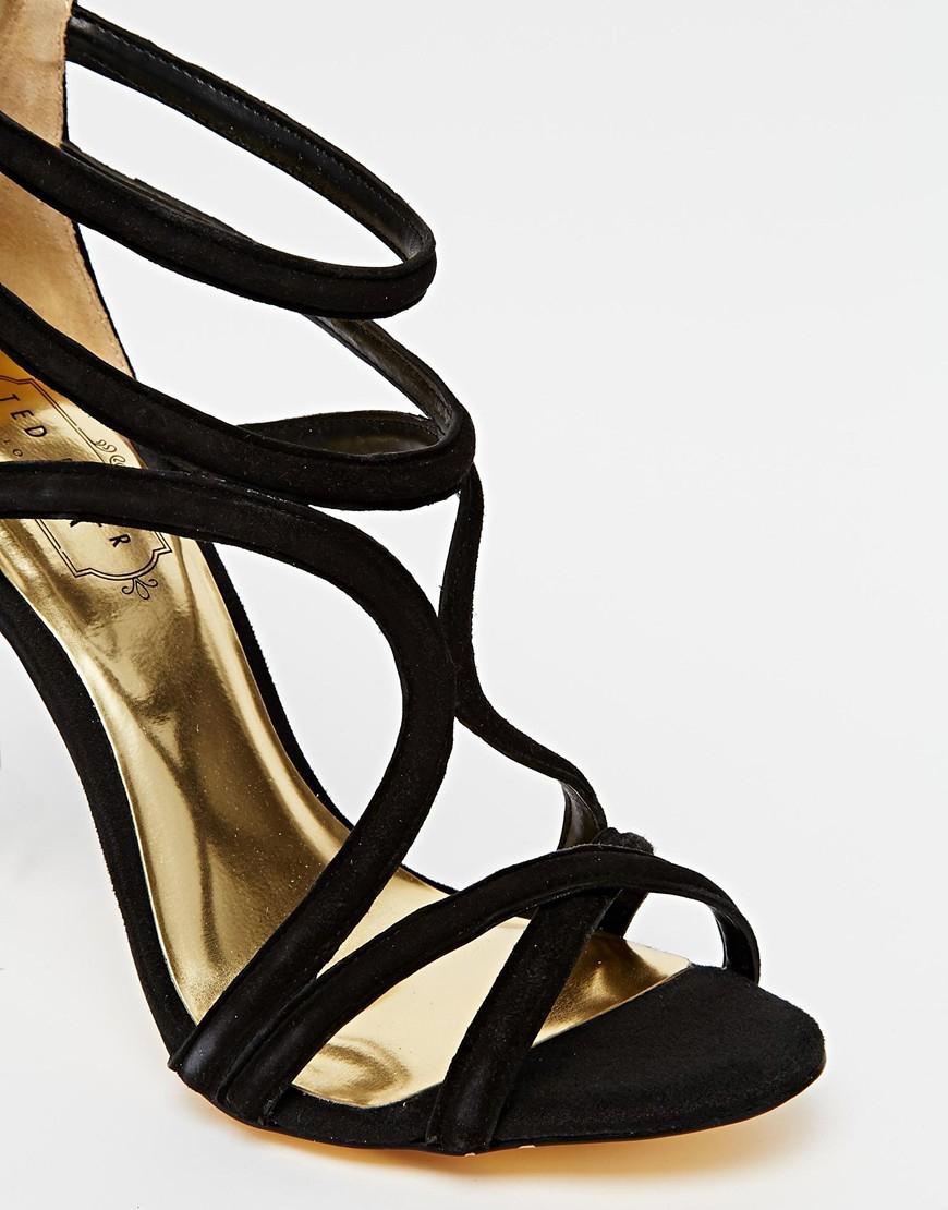 116c55fcf9b Lyst - Ted Baker Ninof Strappy High Heel Sandals in Black