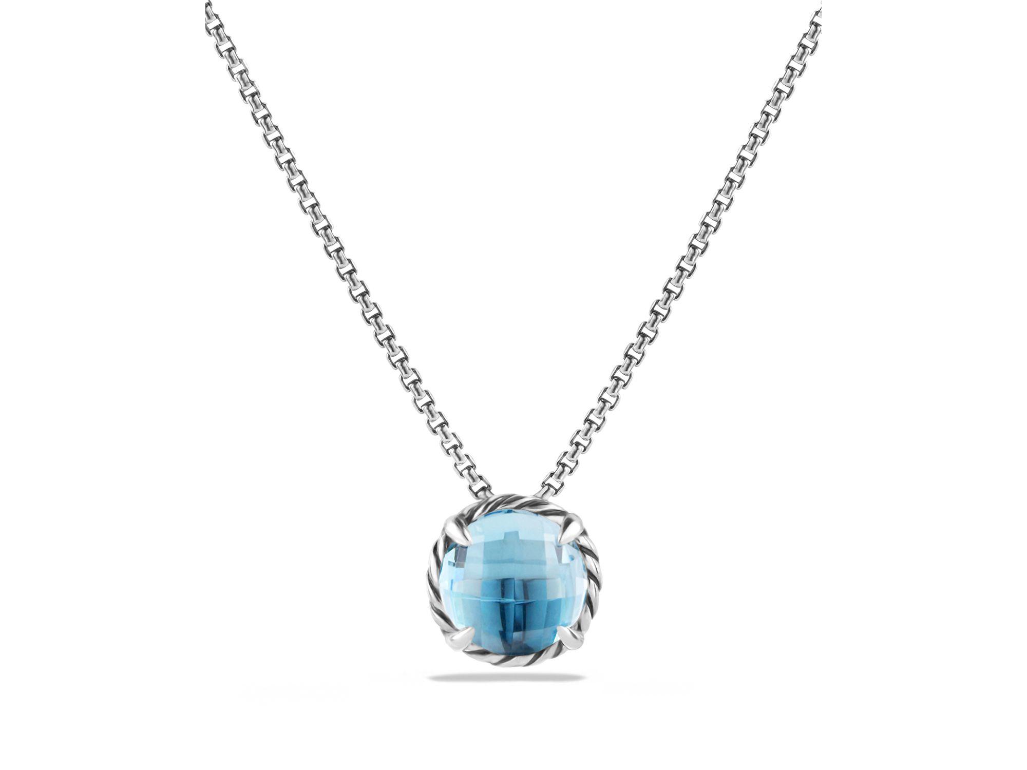 david yurman chatelaine pendant necklace with blue topaz